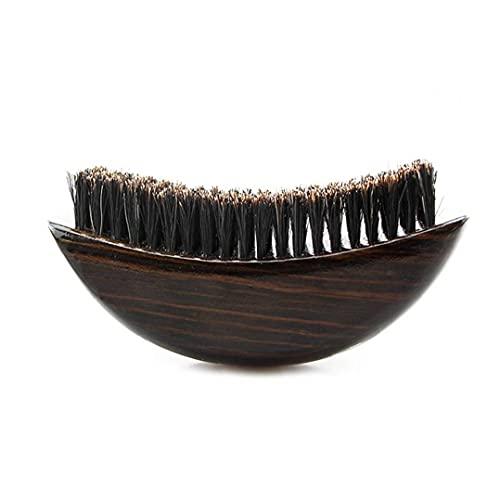 Barbe Brosse Bristle Brosse barbe soin propre des hommes Brosse à cheveux barbe visage Brosse à cheveux avec poignée en bois, rasage Accessoires et outils