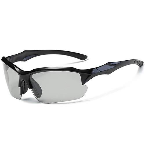 NSGJUYT Ciclismo Deportes Gafas polarizadas Gafas de Sol UV400 de la Bici del Camino Correr Montar Bicicleta MTB Gafas (Color : Photochromic)