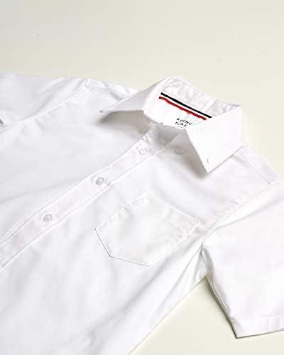 French Toast - Camisa de vestir Oxford de manga corta con ...