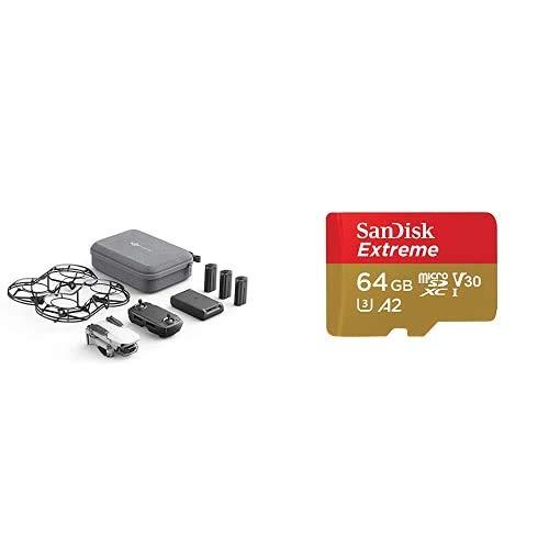 DJI Mavic Mini Combo (EU) + Con Care Refresh - Dron Ultraligero y Portátil + SanDisk Extreme - Tarjeta de Memoria MicroSDXC de 64GB con Adaptador SD