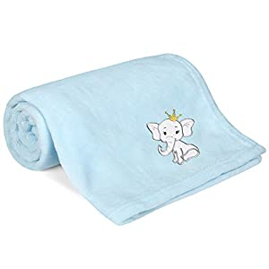 crib bedding and baby bedding tillyou micro fleece plush baby blanket small lightweight crib blanket for toddler bed, super soft warm infant newborn blanket for daycare preschool, fluffy fuzzy flannel nap blanket, blue, 30x40