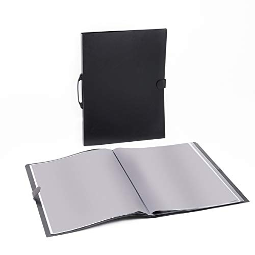 1st Place Products Presentation/Portfolio Book - 18 x 24 Inches - 60 Available Spaces (30 Pages) - Carry Handle with Fastener - Art Case, Photos, Documents, Posters - Premium Quality