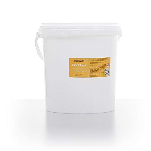 Acide Citrique Anhydre 5,50KG (qualité alimentaire & pharmaceutique) avec doseur à l'intérieur EluOecolo Made in France