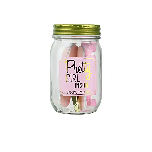 COSMETIC CLUB Coffret Mason Jar Beauté Spécial Manucure Rose