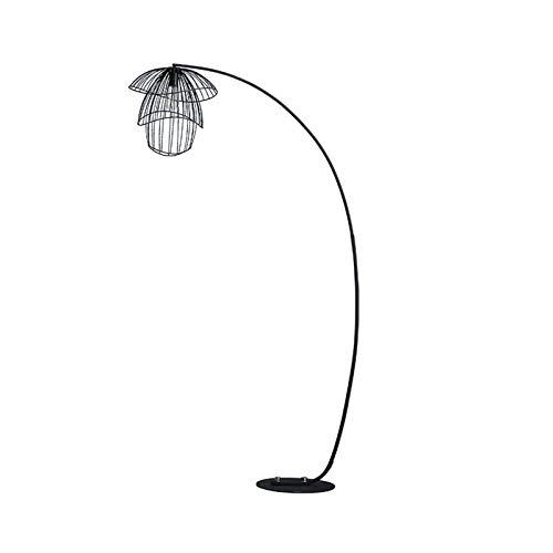 Lámpara de pie Lámpara de pie de lujo moderna Lámpara de pie de iluminación diaria utilizada en dormitorio, sala de estar, comedor, sala de estudio Luz de piso LED ( Color : Black , Size : 187x130cm )