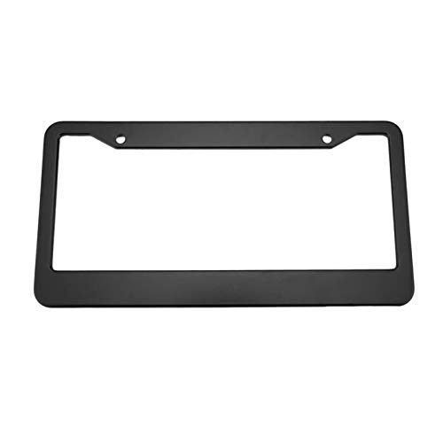 XIAOYING 2pcs Black Aluminum Alloy Car Auto Vehicles License Plate Frame Tag Cover Holder With Screw Caps Car Styling