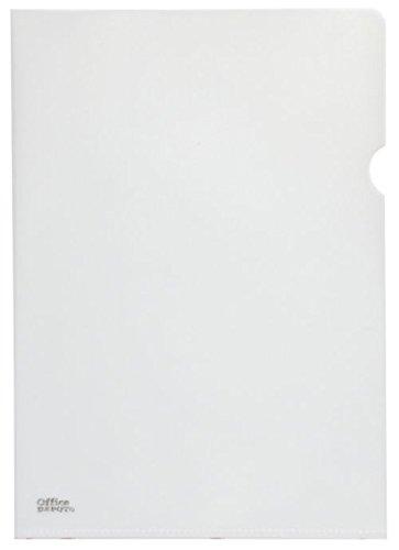薄型クリアホルダーA4 エンボス加工 オフィスデポオリジナル (クリア, 100枚入)