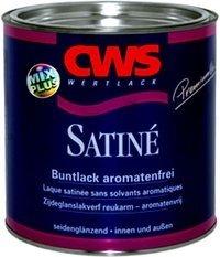 CWS Wertlack Satine 2,5 Liter lack, Farbton: Feuerrot RAL 3000 Seidenglänzend , Verbrauch :ca. 110 ml / m2