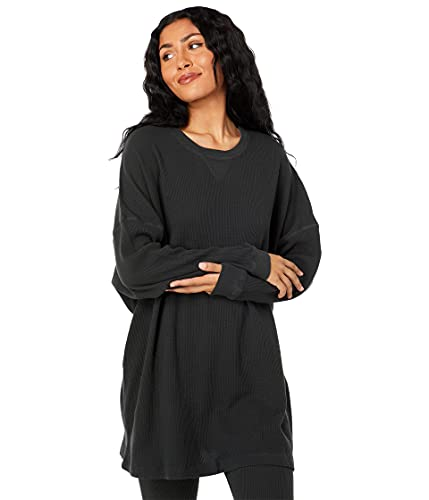 Free People Early Night Thermal Washed Black SM (Women's 4-6)