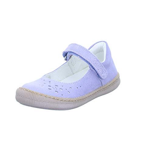 PRIMIGI Kinder Ballerina 5431122 mit Glitzer Effekt und Klettverschluss Blau(Scamosc.Brin/Indaco) Größe 25 EU