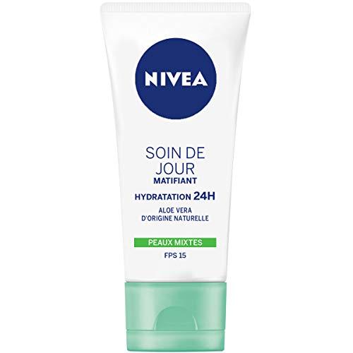 Nivea Essentials, Crema giorno idratante opacizzante 24 h, per pelle mista, 50 ml