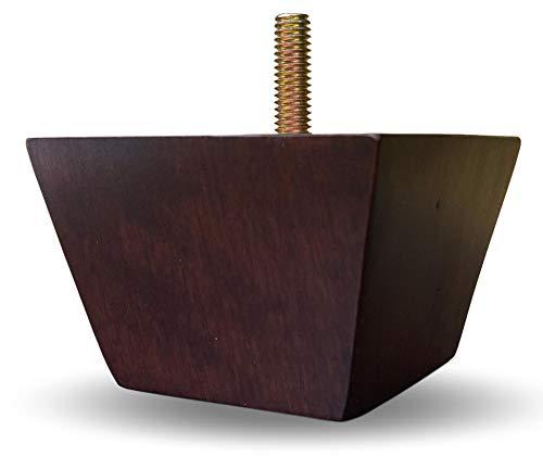 Elegent Upholstery 2' Solid Wood Small Tapered Pyramid Walnut Finish Sofa/Chair/Ottoman Wood Furniture Legs - Set of 4
