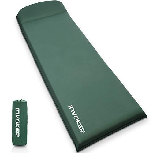 Camping Isomatte - 8 cm UltraThick Memory Foam Selbstaufblasende Camping Matte mit Kissen Schnell Aufblasen in 25s für Rucksackreisen Reisen und Wandern Luftmatratze - Leichte Camp Sleep Pad