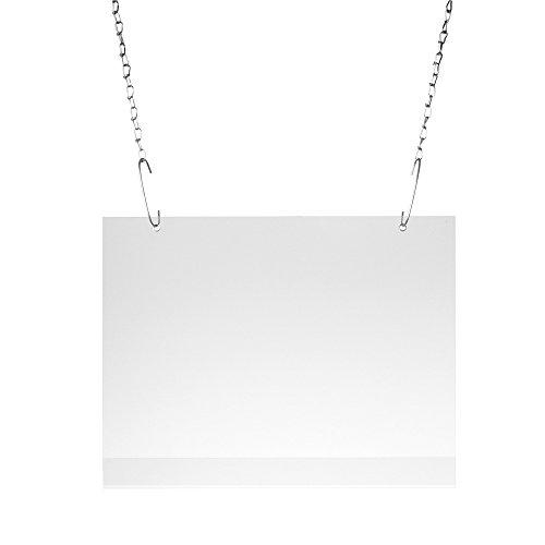 Sparpack - Sparset - 5 x Plakattasche DIN A1 Querformat entspiegelt mit 2 Metallösen inkl. 10 Haken zum Aufhängen - Querformat DIN A1 - Hart-PVC Plakattaschen