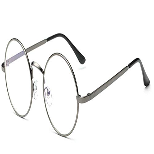 YSDD Resistent tegen straling leesbril mannen vrouwen anti-spaakbescherming unisex plat vintage rond legering frame