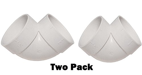 Airvac VM104/5506 90-Degree Short Elbow Pvc Fitting (Two Pack)