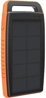 RavPower RP-PB003 Solar Wired Power Pank, 15,000 mAh - 2 Ports - Orange and Black
