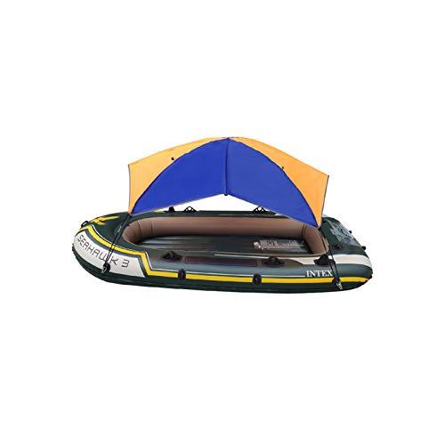 bysonice Toldo universal impermeable para kayaks/canoas, toldo inflable para barco, toldo de pesca, toldo de lluvia, toldo de kayak, kit plegable con accesorios de instalación, para 3 personas