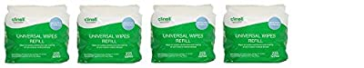Clinell Universal Wipes - Bucket of 225 Refill (4) by