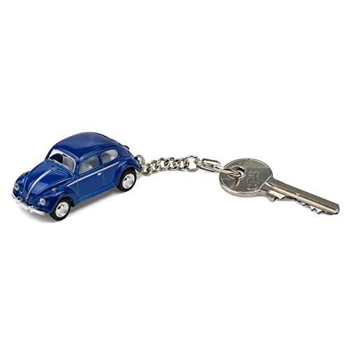 corpus delicti :: Schlüsselanhänger mit VW Käfer Modellauto für alle Auto- und Oldtimerfans (blau) (20.7)