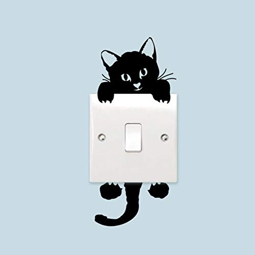 Kitten Living Room Bedroom Wall Switch Stickers Stickers Wholesale Waterproof Household Stickers