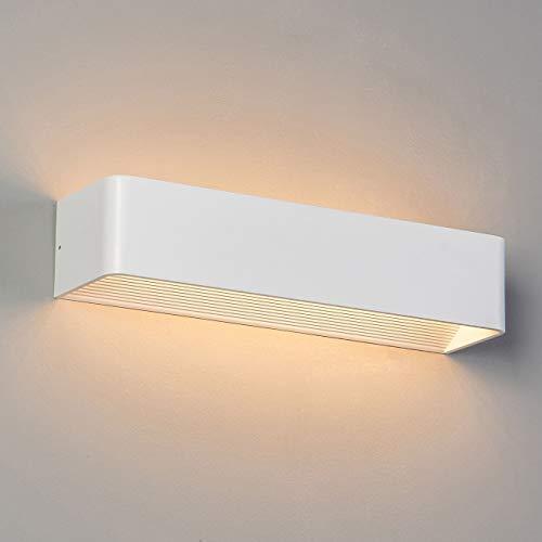 KOSILUM - Applique murale LED design Quadra 12W - 37 cm - Lumière Blanc Chaud Eclairage Salon Chambre Cuisine Couloir - 12 x 1W - 931 lm - LED intégrée - IP20