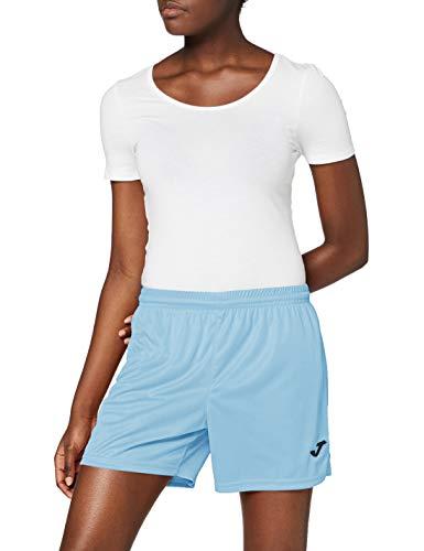 Joma Paris II Short Señora Deportivo, Mujer, Celeste, M