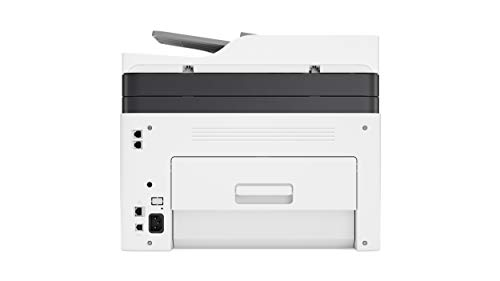 HP Color Laser MFP 179fnw - Impresora láser multifunción (Imprime, Copia y escanea, 18/4 ppm, LED, USB, FAX, WiFi), Blanco/Gris