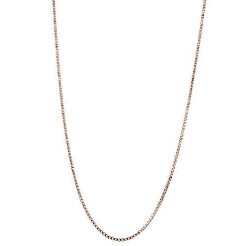 [アクセサリーショップピエナ]サージカルステンレス製 Zanipolo Terzini チェーンのみ 細め ネックレス レディース メンズ ピンクゴールド43cm