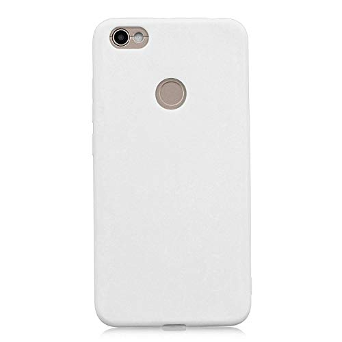 cuzz Funda para Xiaomi Redmi Note 5A+{Protector de Pantalla de Vidrio Templado} Carcasa Silicona Suave Gel Rasguño y Resistente Teléfono Móvil Cover-Blanco