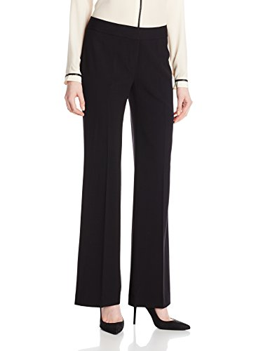 NINE WEST Women's Bi Stretch Modern Pant, Black, 4
