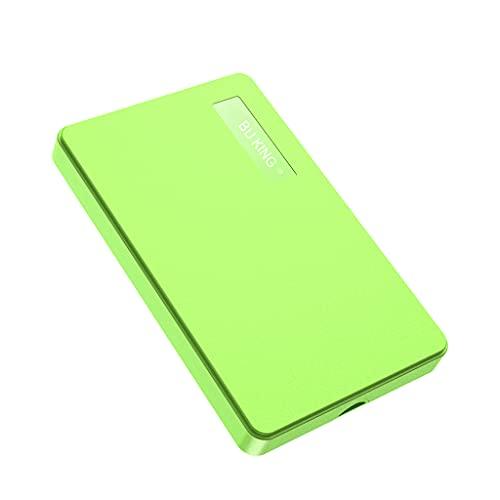 BU KING Disco rigido esterno USB3.0 500 GB HDD Disco rigido esterno portatile PC Mac Desktop Notebook Computer-Verde