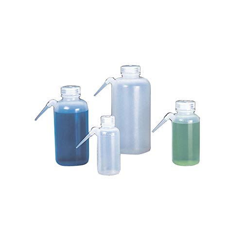 Nalgene 2402-0250 Unitary Wash Bottle, LDPE, 250mL (Pack of 4)