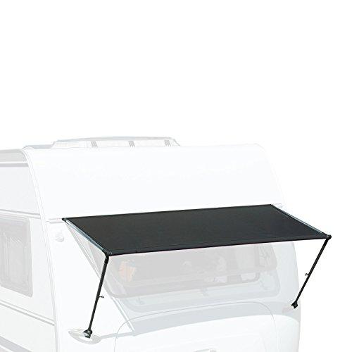 Toldo para ventana de caravana «Isabella» 190cm de ancho, antracita, ajuste universal