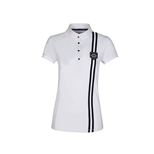 Equiline Damen Polo Shirt Jaffa FS18 Farbe Reitbekleidung weiß, Kleidergrößen XS