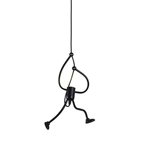 FBBULES Lámpara de techo E27 Moderno Humanoide Creativo Lámpara de sala Art Deco para Dormitorio, Escalera, Pasillo, Restaurante, Cocina, Sin bombilla