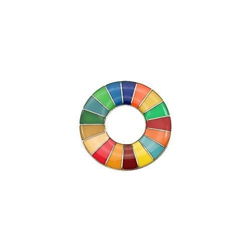 Broche de Metas de MOMOJIA, Broche de Metas de Desenvolvimento Sustentável Distintivo Arco-Íris dos ODS das Nações Unidas