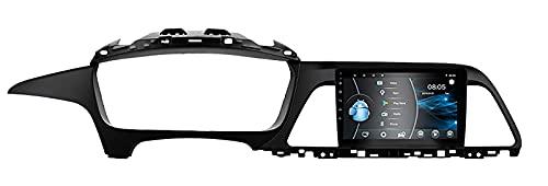 AEBDF Android 10 Autoradio Navigazione per Auto Lettore multimediale Stereo GPS Radio SAT NAV Touch Screen per Hyundai Sonata 9 2015 2016 2017,6 Core 4G WiFi 2+32(1din)