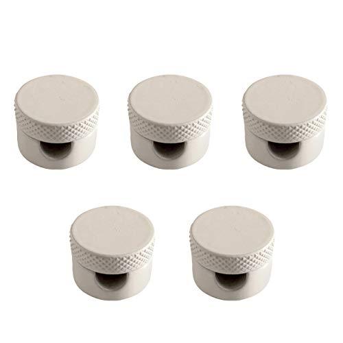 Amarcords - 5 descentralizadores glándula en aluminio con ajuste del cable a la vista de las lámparas y suspensiones - Bianchi