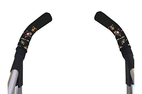 Tris&Ton Fundas empuñaduras verticales Modelo Monitos, empuñadura funda para silla de paseo cochecito carrito carro (Tris y Ton)