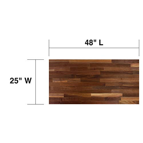 John Boos WALKCT-BL4825-O Blended Walnut Counter Top with Oil Finish, 1.5