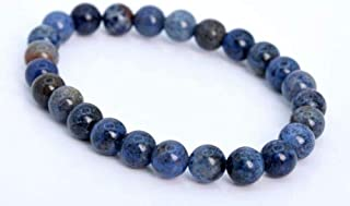 8mm Blue Dumortierite Bracelet Grade A Genuine Natural Round Gemstone Beads 7'' Crafting Key Chain Bracelet Necklace Jewelry Accessories Pendants