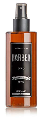BARBER MARMARA No.3 Eau de Cologne Pump-spray Herren (1x 250ml) After Shave Men - Duftwasser - Rasierwasser Männer - Erfrischt kühlt - Duft Herren - Desinfizierend 70° Alkohol (No.3)