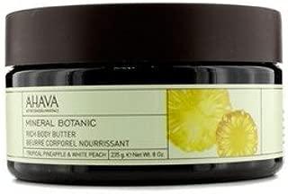 AHAVA(アハバ) ミネラル ボタニック ベルベット ボディバター #Tropical Pineapple&White Peach 235g/8oz [並行輸入品]