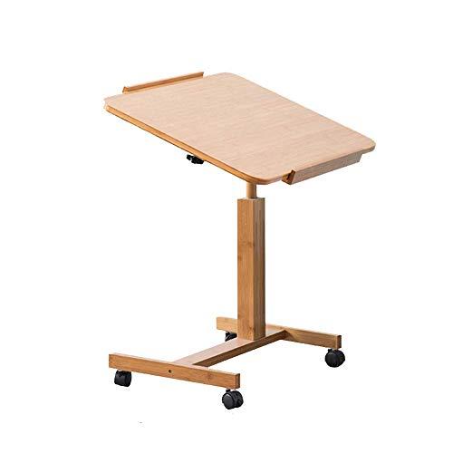 AI LI WEI levend kantoor/eenvoudige opbergtafel laptopstandaard voor op het bureau draagbare nachtkastje studententafel vergaderruimte bureau met wieltjes kantelbaar, 2 groottes (grootte: 70 x 50 cm)