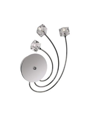 Philips Lighting IAP5035147 CATILINA Applique 3x20W 230V, Métal^Verre, G4, Chromé/Transparent