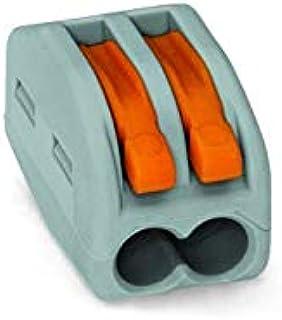 WAGO 222-412 Lot de 50 bornes de connexion avec levier de commande Gris 2 x 0,08-2,5 mm²