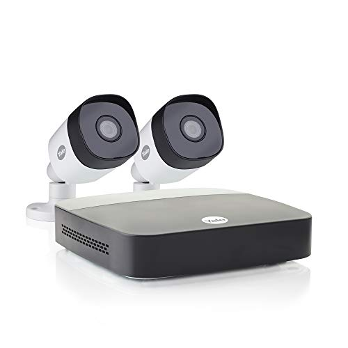 Yale SV-4C-2ABFX-2 Smart Home CCTV Kit, x2 Outdoor Night Vision Cameras, 1080p, 1 TB Hard Drive, App Controlled