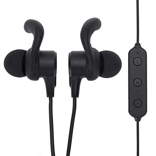 Onn in Ear Headphones with Bluetooth Connection and in-Line Microphone for Hands Free Calling, Black