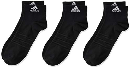 adidas LIGHT ANK 3PP Socks, Unisex adulto, Black/Black/Black, L